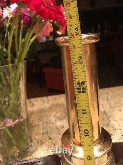 Vintage 2 1/2 Pouce Nickel Sur Le Laiton Jouer Pipe Buse De Feu Et 1 1/4 Pouce Conseil