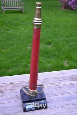 Vintage A. F. D. S. Co. Laiton Bronze Feu 30 Pouces Camion De Pompiers Tuyau Buse