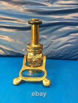 Vintage Akron Brass 11/2 Levier Coupez L 'incendie Buse