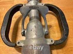 Vintage Akron Brass Imperial Fire Département Firefighting Hose Buse Withhandles