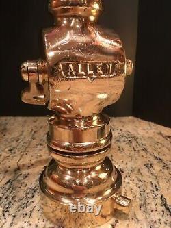 Vintage Allen 3 In. / 11/2 In. Reducer W 11/2 Buse De Feu En Laiton Avec 1 In. Tip