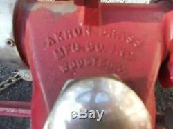 Vintage Brass Akron Fire Equipment Canon À Eau Moniteur Sol Pont Gun II