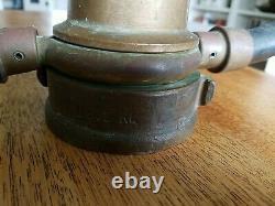 Vintage Brass Antique Elkhart Deux Poignée 19 Modèle Buse Feu B875rl