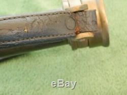 Vintage Brass & Cuir Elkhart Chef Des Pompiers Nozzle Trouver Domaine
