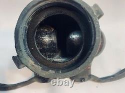 Vintage Brass Heavy Fire Hydrant Hose Splitter Nozzle Two Male Ends