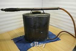 Vintage Brass Indian Fire Pump D. B. Smith & Co. Utica Ny Équipement Pompier