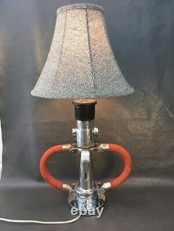 Vintage Chrome Hyflo 2 Buse De Feu 1/2 Pouces Sur Mesure Lampe De Table 29 En. H