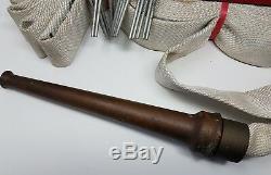 Vintage Elkhart Brass Feu Buse Et Fyr-fyter Semi Automatique Tuyau N ° De Rack 411