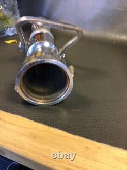 Vintage Elkhart Chrome 21/2 Pouces Levier Arrêté Avec 3 Embouts De Feu Empilés