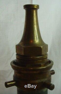 Vintage John Morris & Sons Ltd Tuyau D'incendie De Pompier Pompier Buse Fermer Ouvrir
