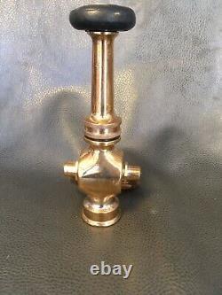Vintage Laiton Alfco Fire Nozzle Avec Fermeture De Levier 8 1/2 Pouces Haut