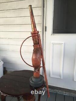 Vintage Lee Brass Buse Deluge Deck Gun Incendie Eau Canon Antique Fire