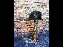 Vintage Nickelé 2 1/2 Po. Mars 1929 Larkin Feu Buse Lampe Sur Mesure