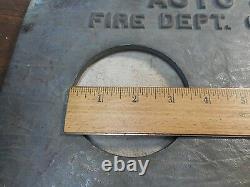 Vintage Powhatan Brass Auto Spkr Fire Dept Connection Plate Ranson W Va Brass
