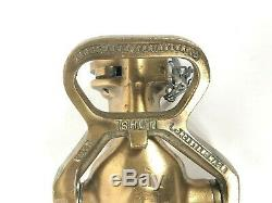 Vintage Rockwood Sprinkler Co. Laiton Buse Tuyau D'incendie Cfr Capitaine. M. Powers M. H. T