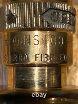 Vintage Solid Brass Fire Hose Spray Nozzle Par Elkhart Seco Sierra Ns #a 3 Lot