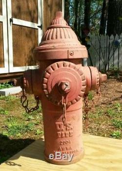 Vintage USA Chattanooga Tennessee Fonte Bouche D'incendie Jardin Statue Sculpture