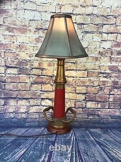 Vintage W. D. Allen Mfg. Chicago 3. Lampe Personnalisée De Buse De Feu De Corde Rouge En Laiton