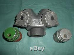 Vintage Western Equip Co Feu En Aluminium Tuyau Wye Y Splitter & Hansen Nozzles