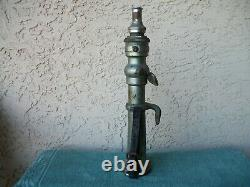 Vintage Wvfd Landerson Nickle Over Brass Fire Hose Nozzle Avec Leather Straps