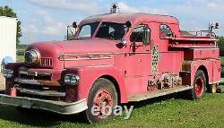 Vtg Antique Fire Hose Buse Elkhart Brass Mfg. Co. Off 1964 Seagrave Firetruck