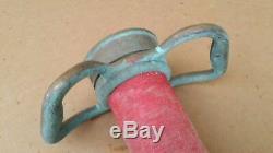 Vtg Underwriters Playpipe Pompier Tuyau Buse Pompiers Antique 26 Feu Dept
