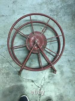 Wirt Et Knox Vintage Fire Hose Reel 21 Diamètre