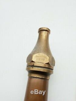 Ww2 British Home Front Civil. Défense Afs Nfs Brass & Copper Fire Hose Nozzle